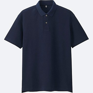 MEN RELAXED FIT SHORT-SLEEVE POLO SHIRT, NAVY, medium
