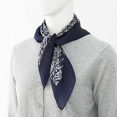WOMEN Silky Scarf (Paisley)