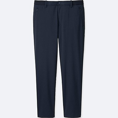 MEN RELAXED ANKLE LENGTH PANTS (DRY), NAVY, medium
