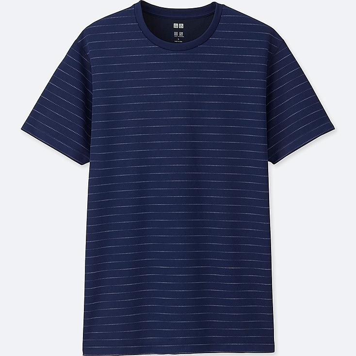 MEN DRY-EX SHORT-SLEEVE CREWNECK T-SHIRT, NAVY, large