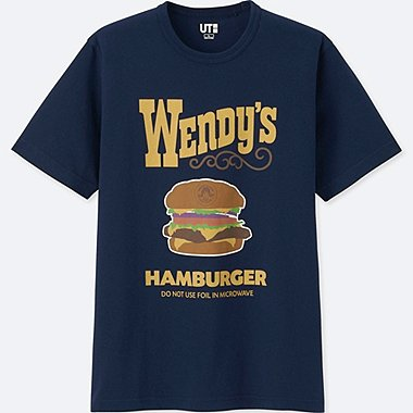 MEN THE BRANDS SHORT-SLEEVE GRAPHIC T-SHIRT (WENDYS), NAVY, medium