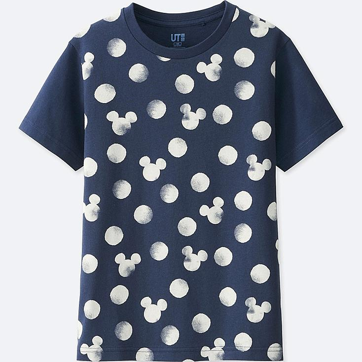 KINDER T-Shirt Bedruckt MICKEY BLUE