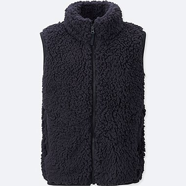 KIDS FLUFFY YARN FLEECE VEST