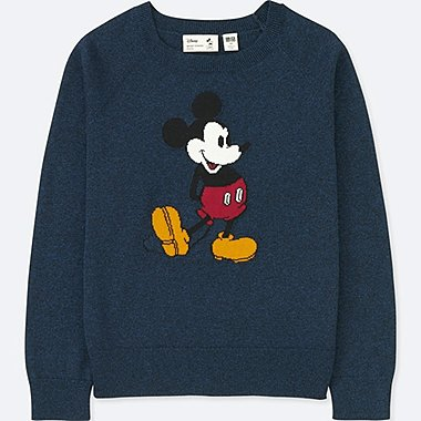 KIDS MICKEY STANDS CREW NECK SWEATER