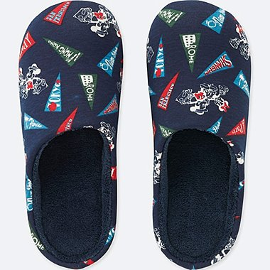 MICKEY TRAVELS SLIPPERS, NAVY, medium