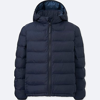BOYS LIGHT WARM PADDED PARKA, NAVY, medium