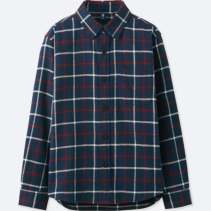 BOYS FLANNEL CHECK LONG SLEEVE SHIRT