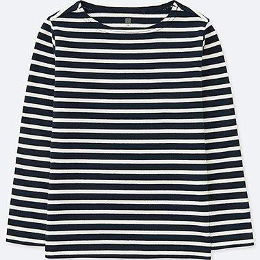 Camiseta manga larga cuello barco a rayas NIÑO