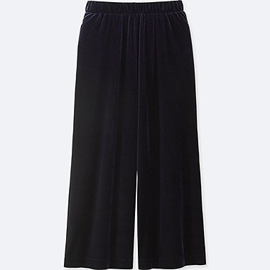 WOMEN VELOUR WIDE TROUSER