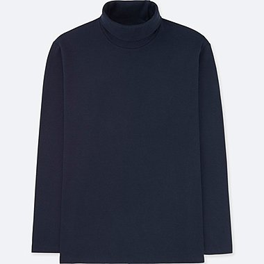 MEN SOFT TOUCH TURTLE NECK LONG SLEEVE T-SHIRT