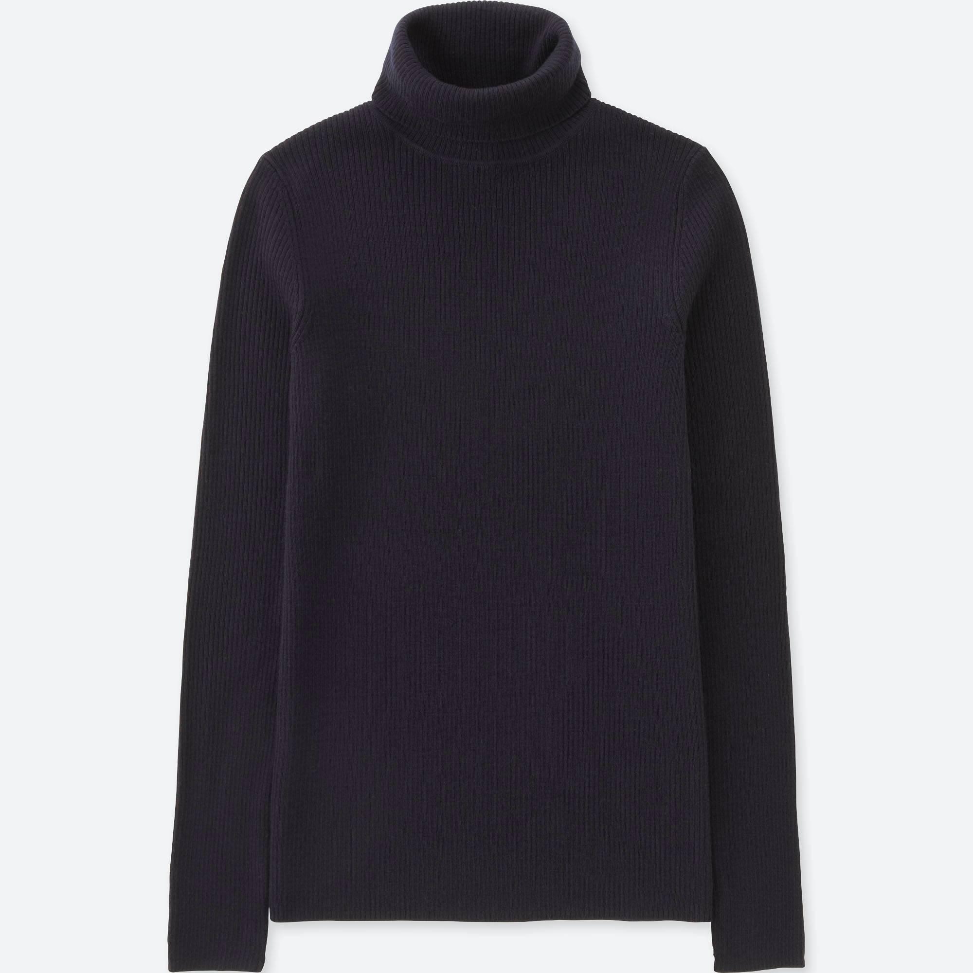 7e688e5f9b55 women extra fine merino ribbed turtleneck sweater