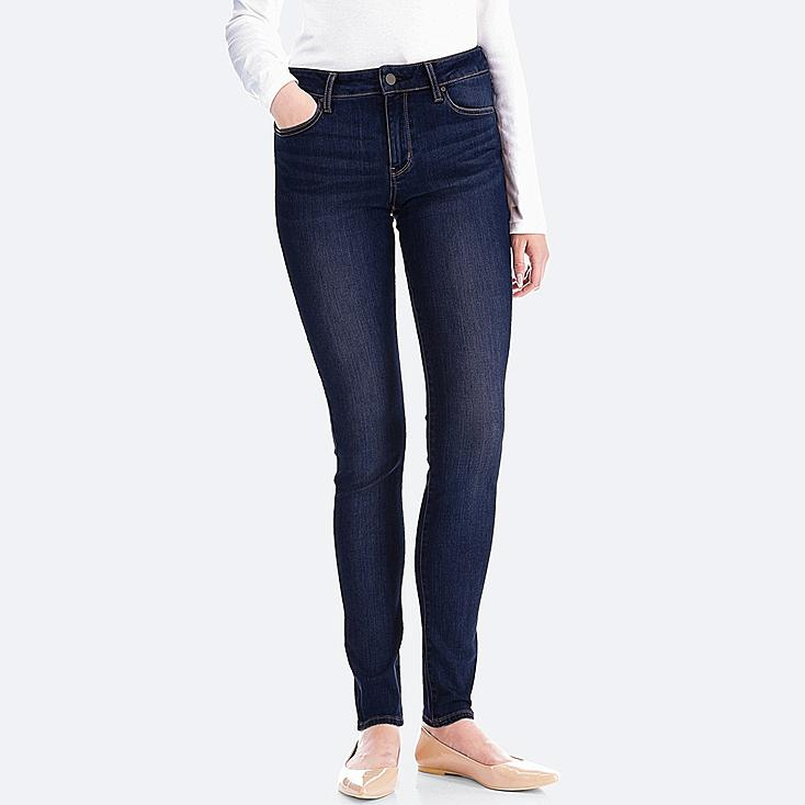 WOMEN ULTRA STRETCH JEANS, NAVY, large
