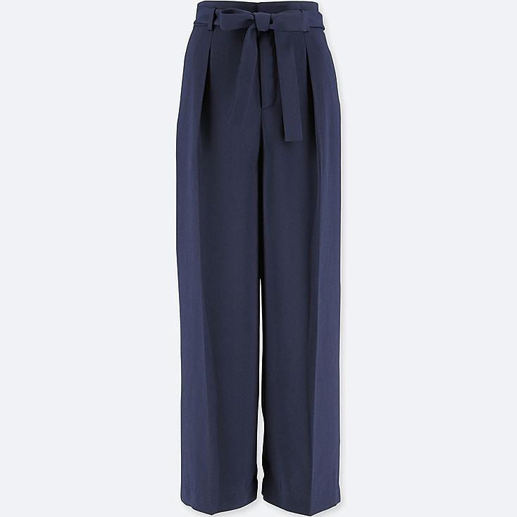 pantalon ample taille haute femme uniqlo. Black Bedroom Furniture Sets. Home Design Ideas