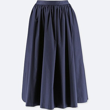WOMEN HIGH WAIST COTTON VOLUME SKIRT