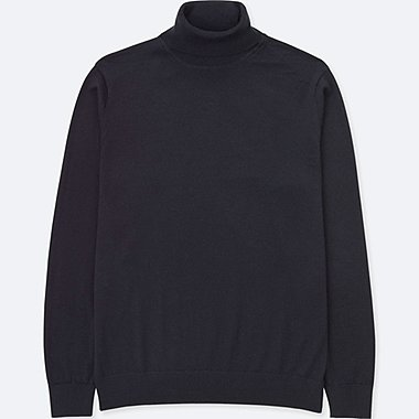 MEN EXTRA FINE MERINO TURTLE NECK SWEATER