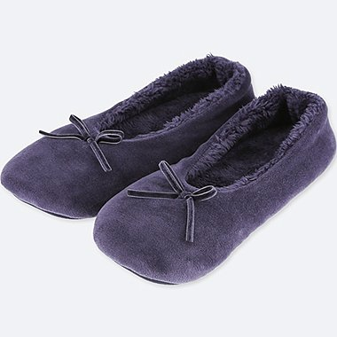 WOMEN VELOUR ROOM BALLLET SHOES
