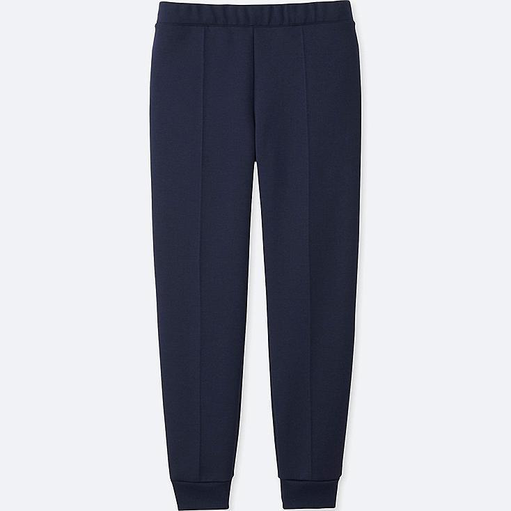 WOMEN DRY STRETCH SWEAT PANTS, NAVY, large