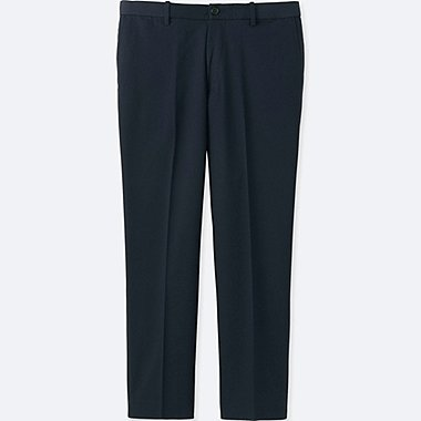 MEN RELAXED ANKLE PANTS (COTTON), NAVY, medium