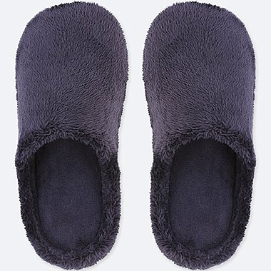 SLIPPERS, NAVY, medium