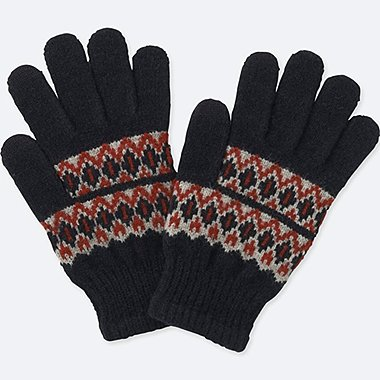 KIDS HEATTECH KNITTED GLOVES
