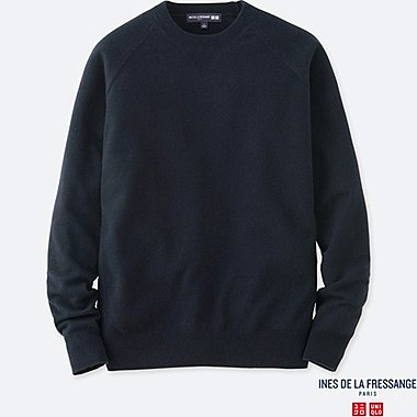 INES - PULL CACHEMIRE COL ROND MANCHES LONGUES HOMME