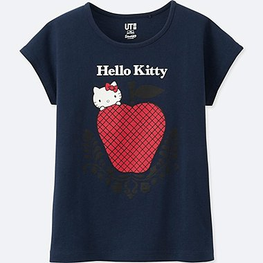 GIRLS SANRIO SHORT-SLEEVE GRAPHIC T-SHIRT, NAVY, medium