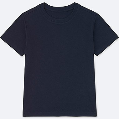KIDS PACKAGED COLOR CREW NECK SHORT-SLEEVE T-SHIRT, NAVY, medium