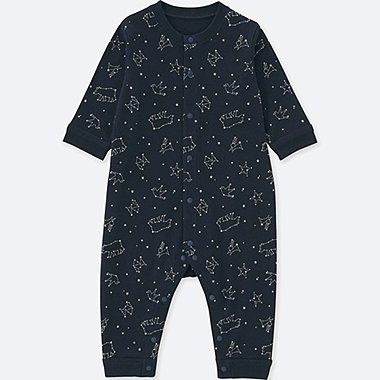 BABY LONG-SLEEVE ONE PIECE OUTFIT, NAVY, medium