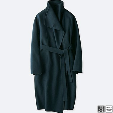 WOMEN UNIQLO U DOUBLE FACE WRAP COAT