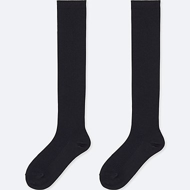 WOMEN HEATTECH KNEE HIGH SOCKS (RIB) 2 pairs