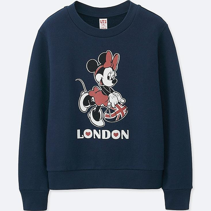 GIRLS MICKEY TRAVELS GRAPHIC SWEATSHIRT, NAVY, large