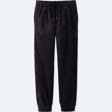 MEN FLEECE EASY PANTS, NAVY, medium