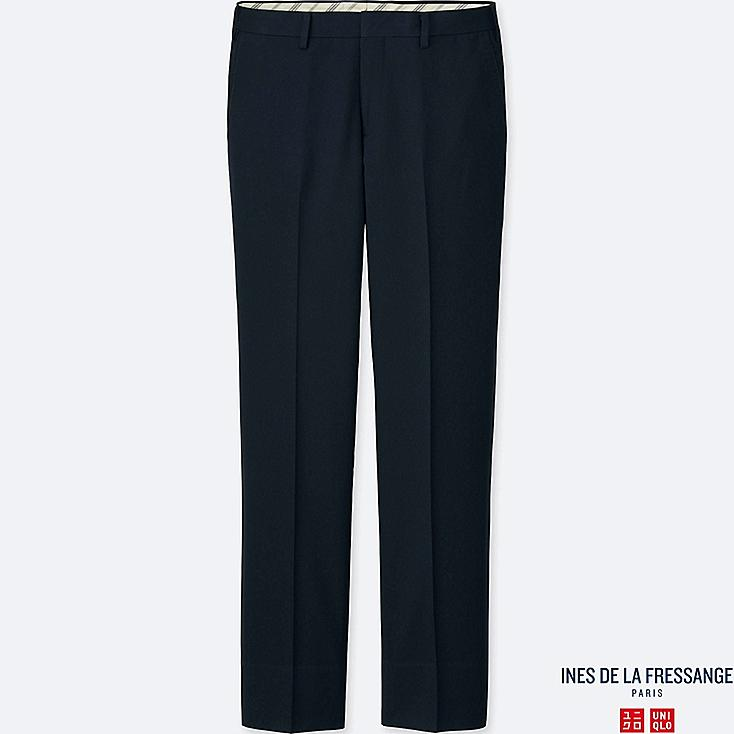 MEN INES SLIM FIT WOOL BLENDED TROUSERS