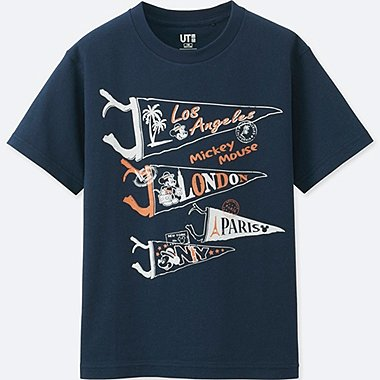 BOYS MICKEY TRAVELS SHORT-SLEEVE GRAPHIC T-SHIRT, NAVY, medium