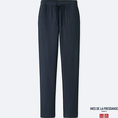 WOMEN IDLF DOUBLE FACE PANTS, NAVY, medium