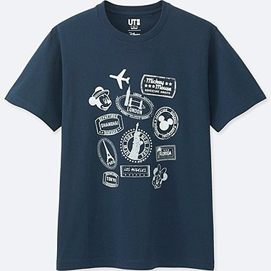 CAMISETA GRAFICA Manga CORTA MICKEY TRAVELS HOMBRE