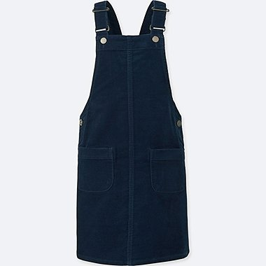 GIRLS CORDUROY dungaree Dress