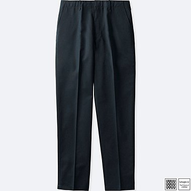MEN UNIQLO U U WOOL BLENDED WIDE TROUSERS
