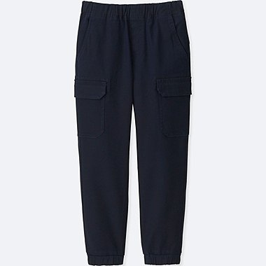 BOYS CARGO JOGGER PANTS, NAVY, medium
