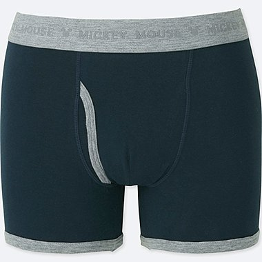 MEN DISNEY BOXER BRIEFS, NAVY, medium