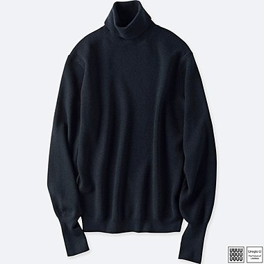 MEN UNIQLO U MERINO BLENDED TURTLE NECK SWEATER