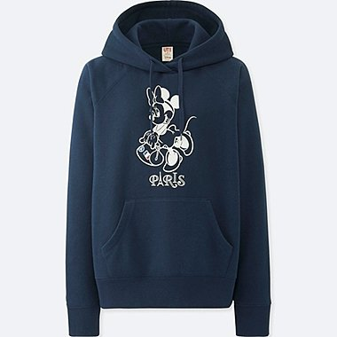 WOMEN MICKEY TRAVELS HOODIE, NAVY, medium