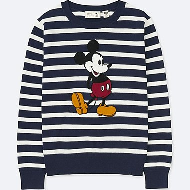 KIDS MICKEY STANDS LONG-SLEEVE SWEATER, NAVY, medium
