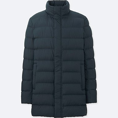 MEN ULTRA LIGHT DOWN HALF COAT (ONLINE EXCLUSIVE), NAVY, medium