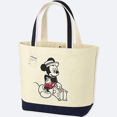 MICKEY TRAVELS TOTE BAG, NAVY, medium