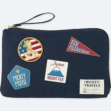 MICKEY TRAVELS POUCH, NAVY, medium