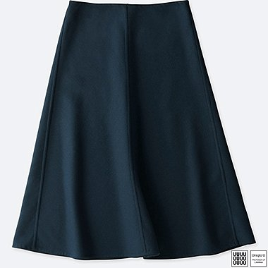WOMEN UNIQLO U DOUBLE FACE FLARED SKIRT