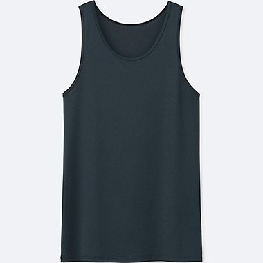 MEN AIRism MESH TANK TOP, NAVY, medium