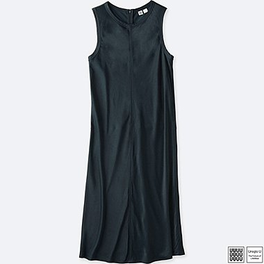 WOMEN UNIQLO U SATIN SLEEVELESS DRESS