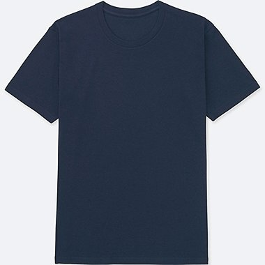 MEN PACKAGED DRY CREWNECK SHORT-SLEEVE T-SHIRT, NAVY, medium